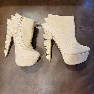 Lilianna fashion heels light tan suade